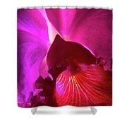 Orchid Landscape Shower Curtain