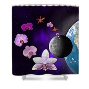 Orchid Moon Base Shower Curtain