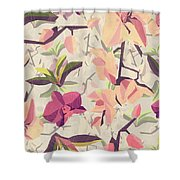 Orchid Pattern Shower Curtain
