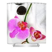 Orchid Spa Composition Shower Curtain