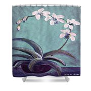 Orchids 5 Shower Curtain