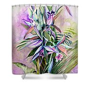 Orchids- Botanicals Shower Curtain