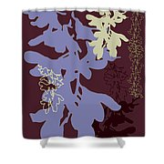 Orchids Cocoa-lavender  Shower Curtain