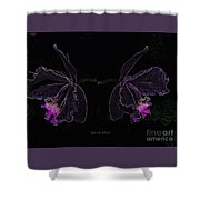 Orchids In Neon Shower Curtain