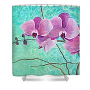 Orchids In Pink Shower Curtain