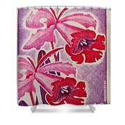 Orchids Of Orleans France 1967 Shower Curtain