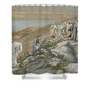 Ordaining Of The Twelve Apostles Shower Curtain by Tissot