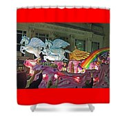 Order Of Polka Dots Emblem Float - Side View Shower Curtain