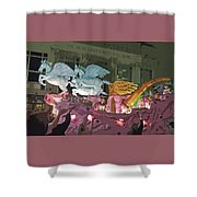 Order Of Polka Dots - Side View -- Cutout Shower Curtain