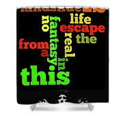 Order The Lyrics Game. Queen. Bohemian Rapsody. Game For Music Lovers And Fans Shower Curtain