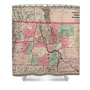 Oregon And Washington Territory Shower Curtain