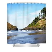 Oregon - Beach Life Shower Curtain