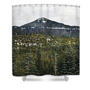 Oregon Cascade Range Forest Shower Curtain