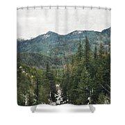 Oregon Cascade Range Shower Curtain