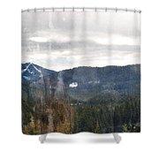 Oregon Cascade Range Landscape Shower Curtain
