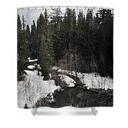 Oregon Cascade Range River Shower Curtain