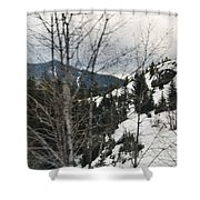 Oregon Cascade Range Trees Shower Curtain