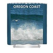 Oregon Coast Flying Seagull Shower Curtain