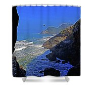Oregon Coast From Sea Lion Caves Shower Curtain