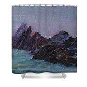 Oregon Coast Seal Rock Mist Shower Curtain