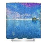 Oregon Coast Twilight Shower Curtain