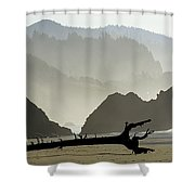 Oregon Coastal Beach Shower Curtain
