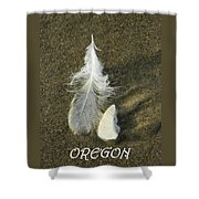 Oregon Feather Shower Curtain
