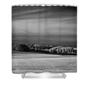 Oregon Field In Infrared Shower Curtain