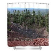 Oregon Landscape - Crater At Lava Butte Shower Curtain