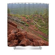 Oregon Landscape - Red Rocks At Lava Butte Shower Curtain