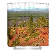 Oregon Landscape - View From Lava Butte Shower Curtain