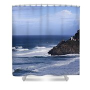 Oregon Lighthouse Shower Curtain