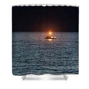 Oregon Night Fishing Shower Curtain by Tom Singleton
