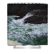 Oregon Ocean Pool Shower Curtain