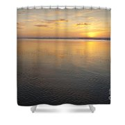 Oregon Ocean Sunset Shower Curtain