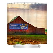 Oregon - Oinion Country Shower Curtain