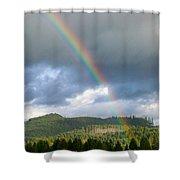 Oregon Rainbow Shower Curtain
