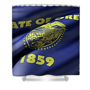 Oregon State Flag Shower Curtain