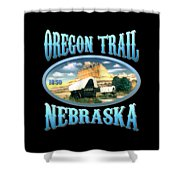 Oregon Trail Nebraska History Design Shower Curtain