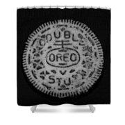 Oreo In Matte Finish Shower Curtain
