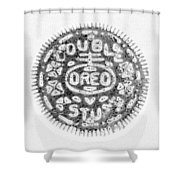 Oreo In Negetive Shower Curtain