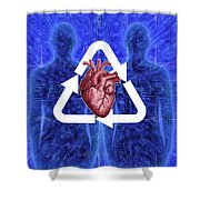 Organ Donation Shower Curtain