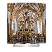 Organ Of The Gothic-baroque Church Of Maria Saal Shower Curtain