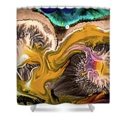 Organic Abstract Shower Curtain
