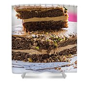 Organic Coffee And Pistachio Cake A Shower Curtain
