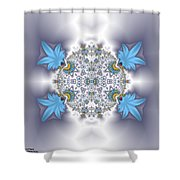 Organic Fractal Shower Curtain