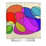 Organic Kaleidoscope Shower Curtain