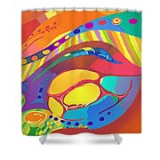 Organic Life Scan Or Cellular Light - Blood Shower Curtain