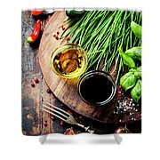 Organic Vegetables And Spices Shower Curtain