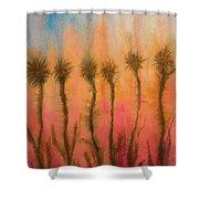 Organic Watercolor Art Shower Curtain
